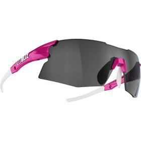 Bliz Tempo M12 Glasses for Small Faces, rubber neon pink/smoke with silver mirror
